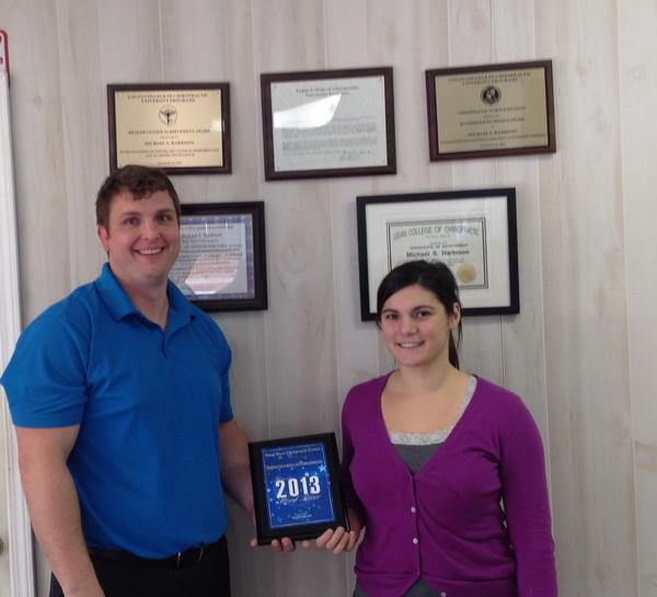 Wood River Chiropractic Center Receives 2013 Best of Wood River Award